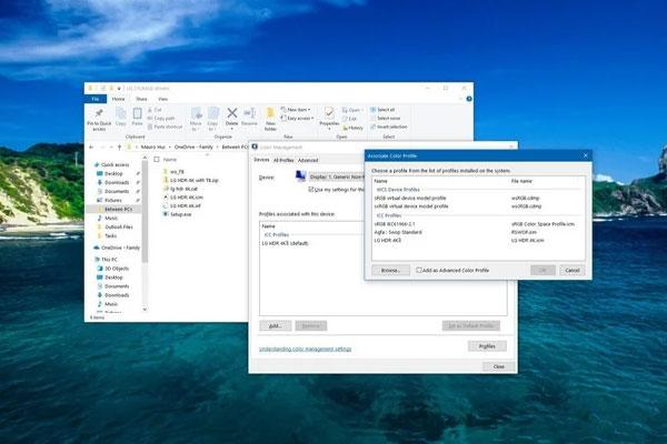 ابزار Windows Color Management