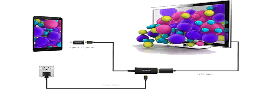 اتصال تبلت ایسوس به تلویزیون با کمک کابل_